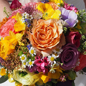 image photo of bouquet of flowers